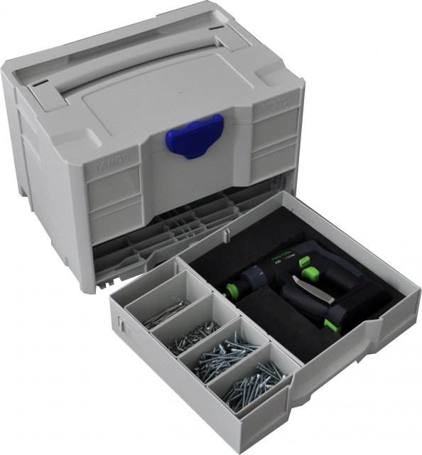-einsatz TANOS Werkzeug-systainer® T-loc III  lichtgrau Werkzeugdeckel 3-tlg.