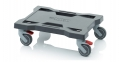 Hand trolley for tool boxes 40 x 30 cm, with weel stop